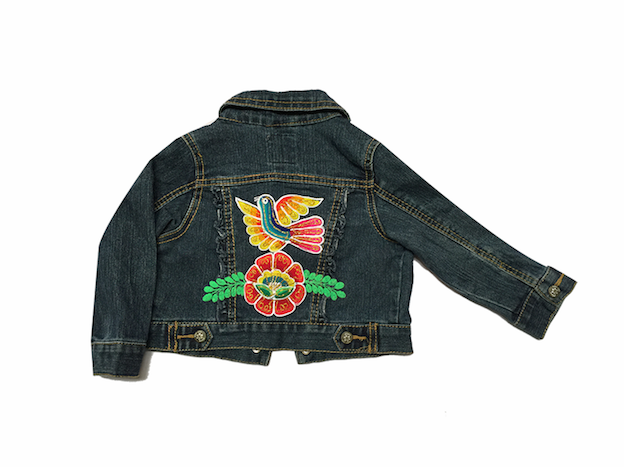 Embroidered jean jacket - Size 18 - 24 M