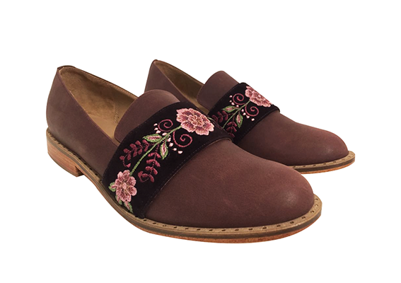 Julianas loafers brown and cherry,  OUT OF STOCK