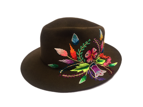Huamanga embroidery hat  OUT OF STOCK