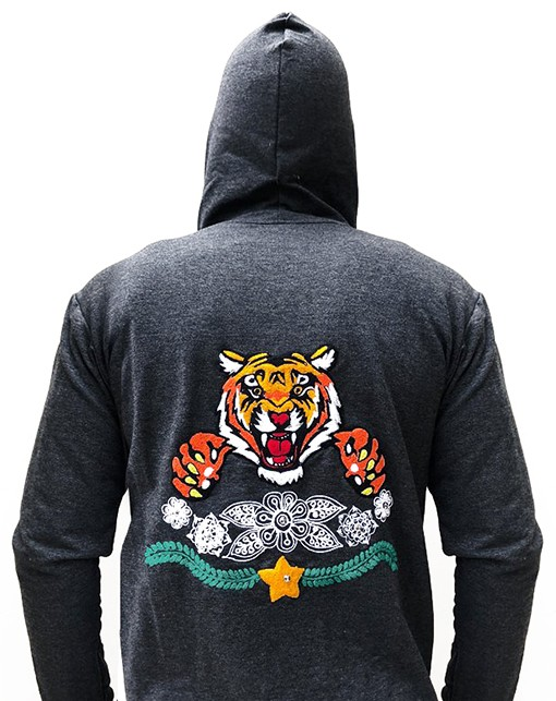 Embroidered jacket with Tiger, Size  L