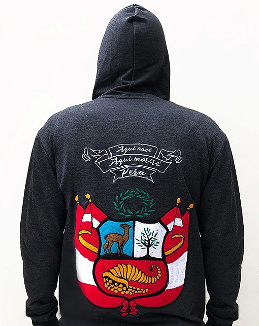 Embroidered jacket, with peruvian shield, Size M - L