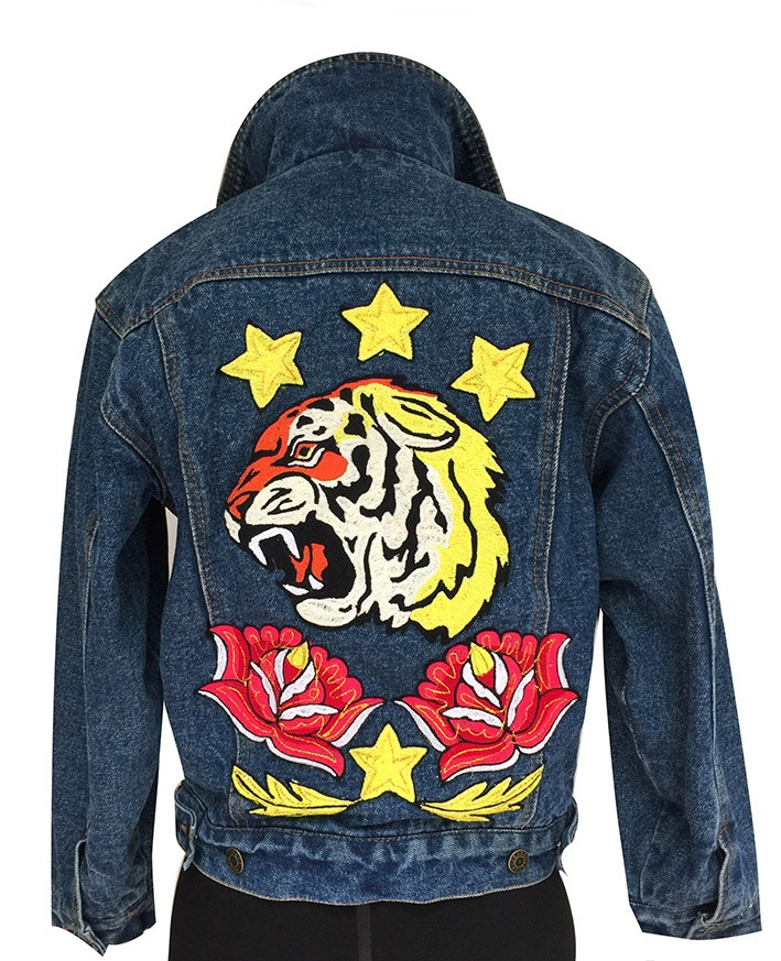 Embroidered jean jacket, Size XS