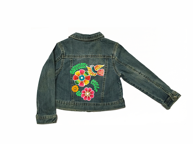Embroidered jean jacket - Size 4